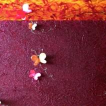 mariposas acrílico mixto 100 x 60 cm