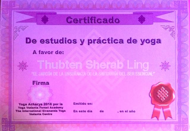 certificado yoga ricard tsl