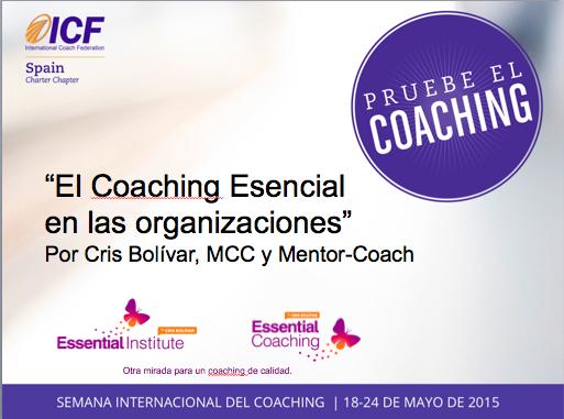 coaching esencial organizaciones - iv semana icf