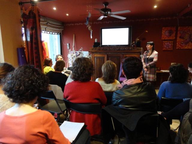 Durante la II Semana Internacional de Coaching de la ICF 2013, en Essential Institute (by Cris Bolívar)