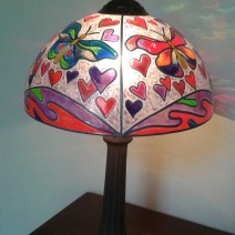lampara mariposa-corazones